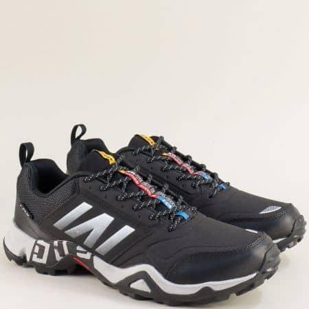 Мъжки маратонки в черен цвят с връзки- Knup 4636-49chb