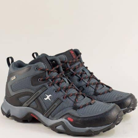 Спортни мъжки обувки с грайфер в сив цвят- Knup 4856-49sv