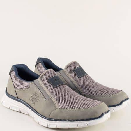 Мъжки маратонки в сив цвят с вградена Memory пяна 4873vsv