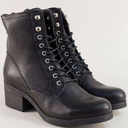 Черни дамски боти от естествена кожа Bullboxer 489508ch