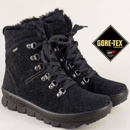 Дамски боти Legero с Gore- Tex мембрана на равно ходило в черен цвят 50302ch