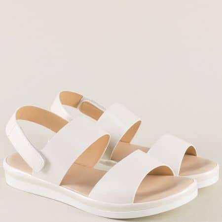 Дамски анатомични сандали в бял цвят 508006b