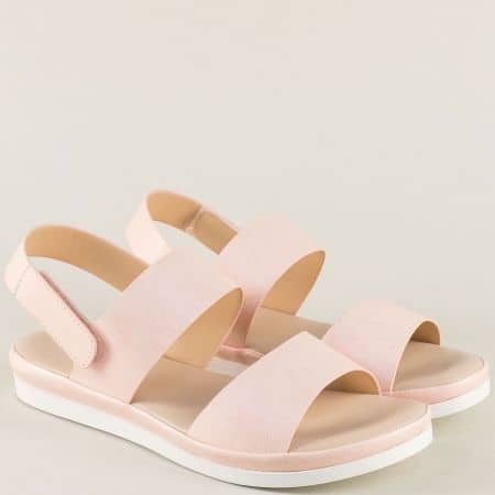 Анатомични дамски сандали в розов цвят 508006rz