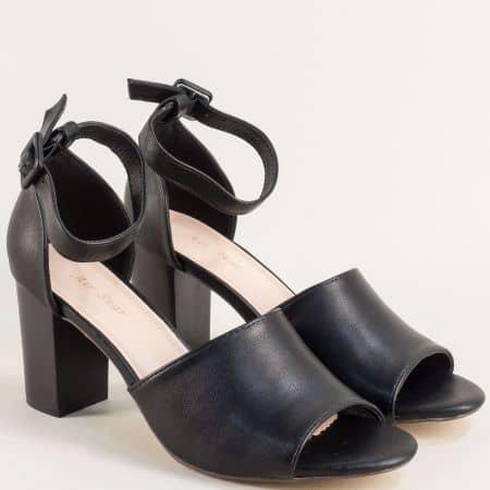 Дамски сандали със затворена пета в черен цвят 508015ch