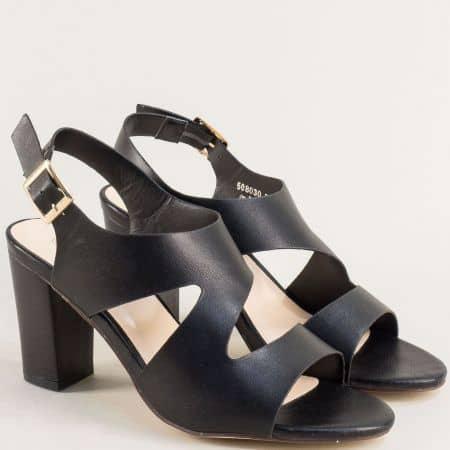Дамски сандали в черен цвят на висок ток-  MAT STAR 508030ch