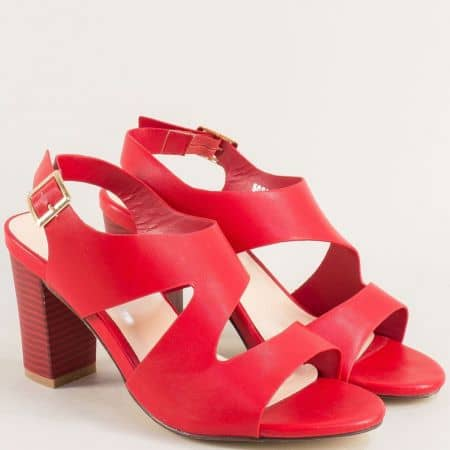 Червени дамски сандали на висок ток 508030chv