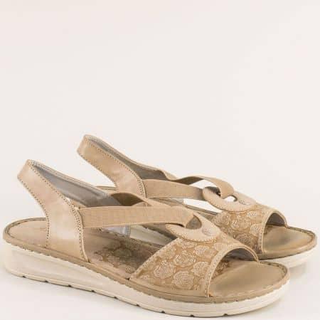 Анатомични дамски сандали в бежов цвят 508031bj
