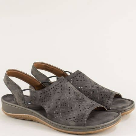 Дамски сандали в сив цвят на удобно ходило- MAT STAR 508047sv