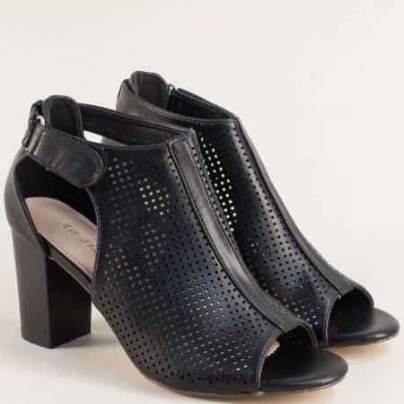 Дамски сандали в черен цвят на висок ток- MAT STAR 508056ch