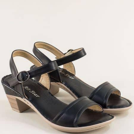Дамски сандали на среден ток в черен цвят- MAT STAR 508076ch