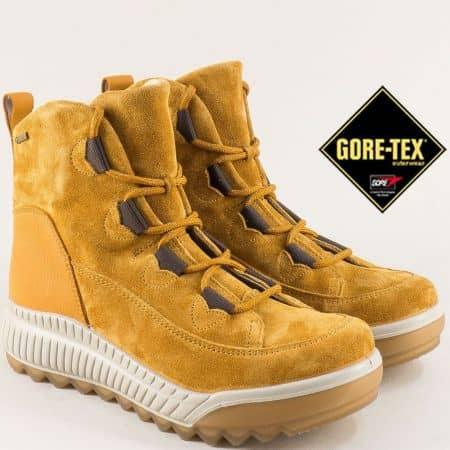 Зимни жълти дамски обувки с Gore-Tex мембрана на марка Legero 509561vj
