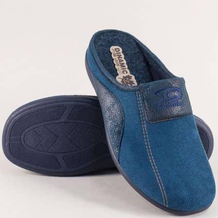 Мъжки домашни пантофи в син цвят- DINAMIC 511662s