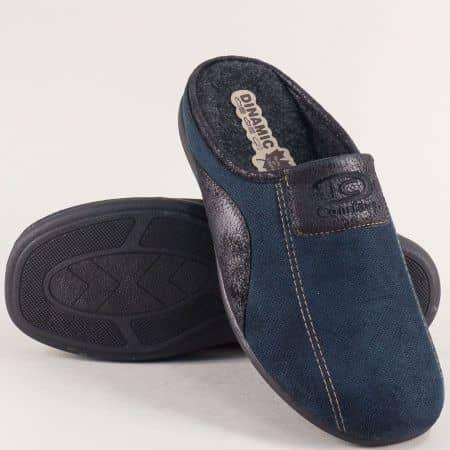 Мъжки домашни пантофи в тъмно син цвят- DINAMIC 511662ts