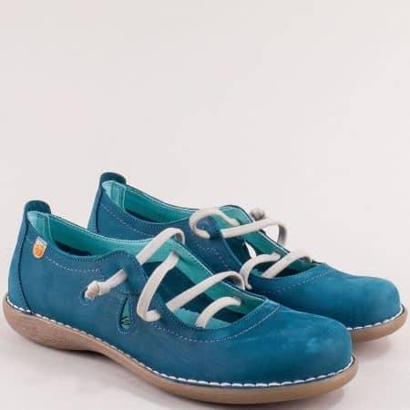 Сини дамски обувки с ластични връзки- JUNGLA 5120nts