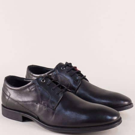 Кожени мъжки обувки в черен цвят с Flex - Comfort  513203ch