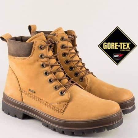 Мъжки боти от естествен набук в бежов цвят с Gore-Tex 51320bj