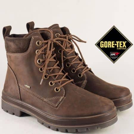 Тъмно кафяви мъжки боти Legero с Gore- Tex мембрана на равно ходило 51348k