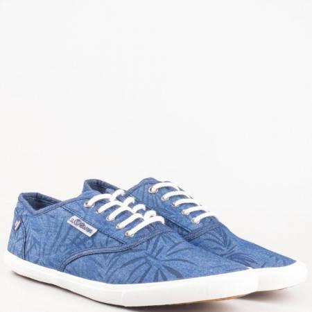 Немски мъжки гуменки с връзки в син цвят- S. Oliver  513620s