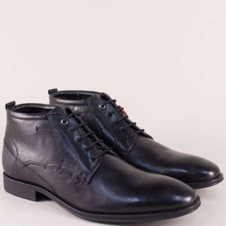 Кожени мъжки боти в черен цвят с Flex - Comfort система 515102ch
