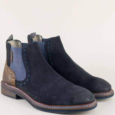 Сини мъжки боти на марка S.Oliver 515301vs