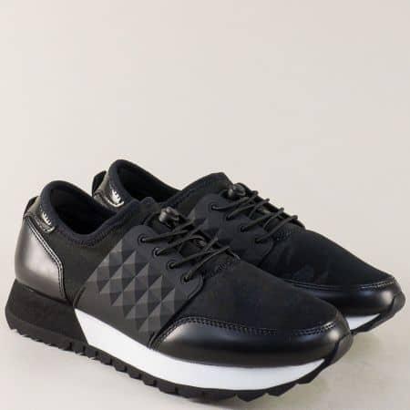 Дамски маратонки в черен цвят с Memory пяна 523613ch