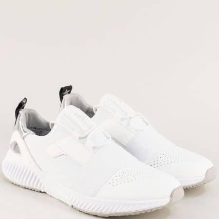 Бели дамски маратонки с връзки- S. Oliver 523645b