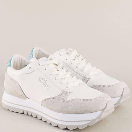 Дамски бели маратонки на s.Oliver 523658b