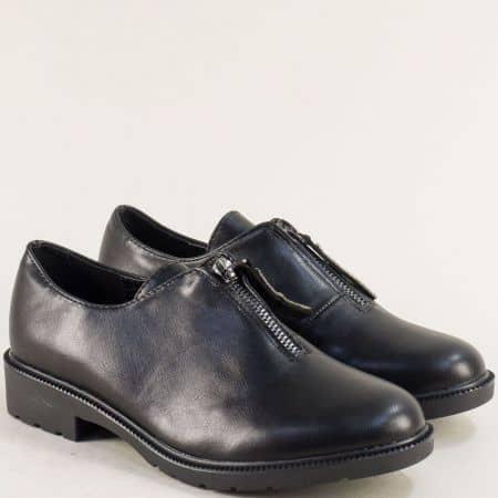 Дамски обувки с цип в черен цвят- MAT STAR 525086ch