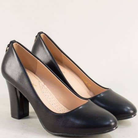 Черни елегантни дамски обувки на висок ток 525094ch