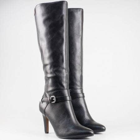 Дамски елегантни ботуши със стелка от мемори пяна в черен цвят на немския производител S.Oliver 525516ch