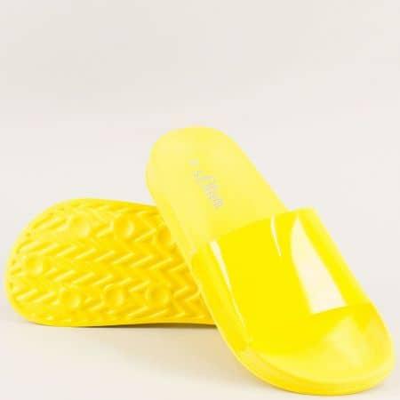 Жълти дамски джапанки на анатомично ходило- S. Oliver 527109j