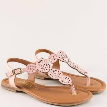 Розови дамски сандали от естесвена кожа- S.Oliver  528102rz