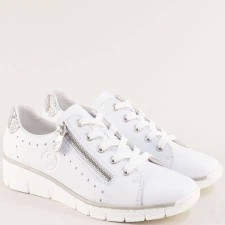 Бели дамски обувки с анти-стрес ходило на марка Rieker 53701b