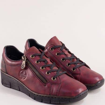 Дамска обувка на платформа в цвят бордо 53702bd