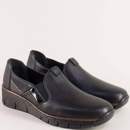 Дамски обувки на Antistress ходило в черен цвят- Rieker 53754ch
