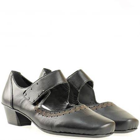 Дамски обувки Rieker водещ швейцарски производител, 100% естествена кожа 53856ch