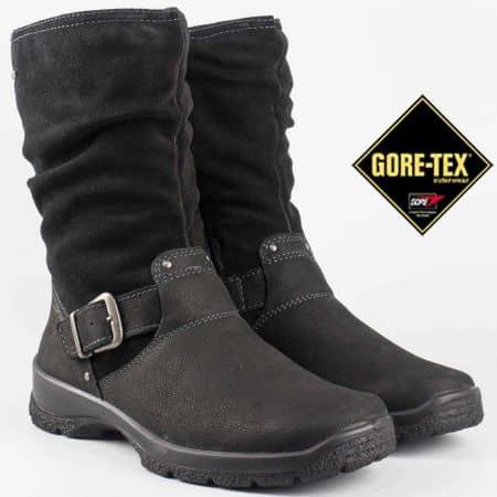 Комфортни дамски боти с вградена Gore-Tex мембрана и каишка в черен цвят на немската марка Legero 54400vch
