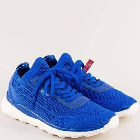 Сини мъжки обувки от текстил s.Oliver 5513642s