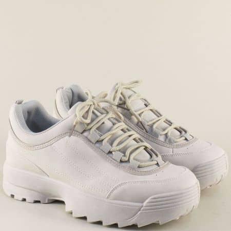 Спортни дамски обувки на платформа в сив цвят 5517-40sv