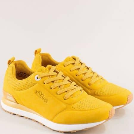 Жълти дамски маратонки с Memory пяна- S.OLIVER 5523606j