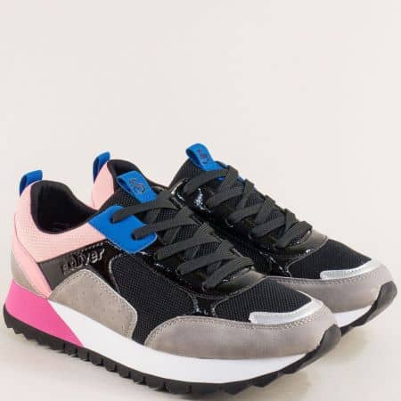 Дамски маратонки в лилаво, розово, синьо и черно 5523614svps