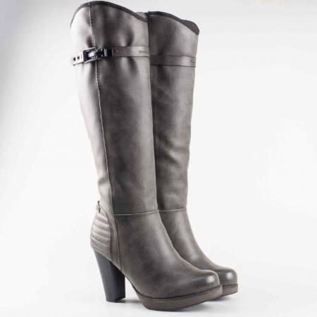 Дамски немски ботуши на марката S.Oliver с комфортно ходило в сив цвят 5525505sv