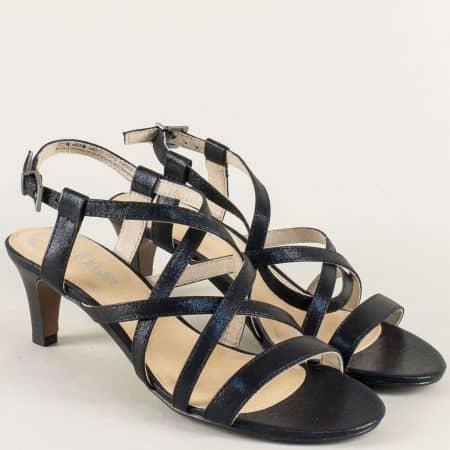 Дамски сандали на среден ток в черен цвят- S.Oliver  5528305ch