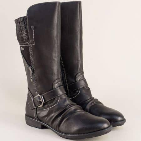 Немски дамски ботуши в черен цвят на нисък ток 556415ch