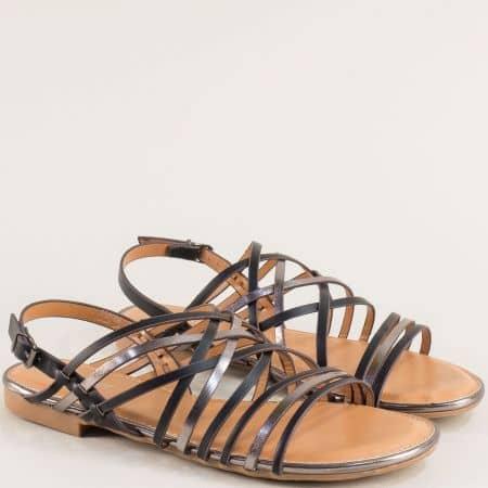 Равни дамски сандали в черен цвят- MAT STAR 558006ch