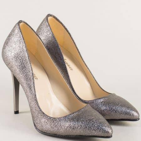 Бронзови дамски обувки стилето на висок ток 5596brz