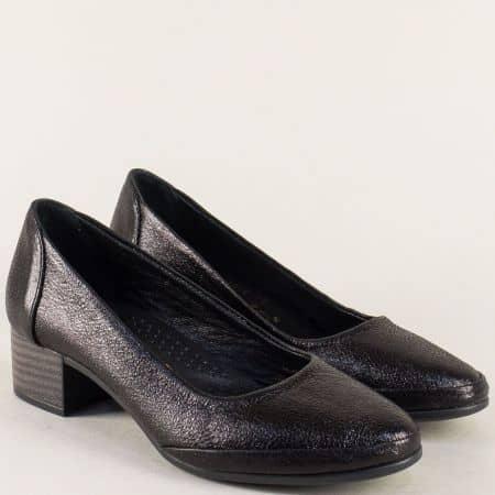 Анатомични дамски обувки на нисък ток в черен цвят 5800ch