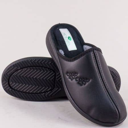 Домашни дамски пантофи- SPESITA в черен цвят 593-40ch