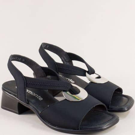 Дамски сандали с кожена стелка в черен цвят- REMONTE 5953sch