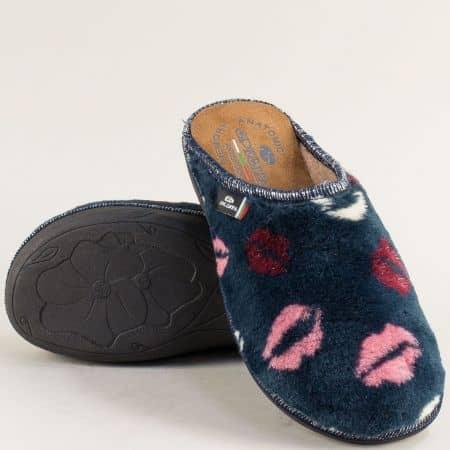 Дамски домашни чехли в син цвят- Spesita 596-40s
